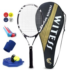 Vitesse /WITESS carbon composite tennis racket and comprehensive type (beginner has worn W-5092 black and white line)