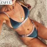 ZAFUL Women Bikini Set 2017 Sexy High Cut Buckles Plunge Beach Swimwear Women Swimsuit Bathing Suit Brazilian Maillot de Bain