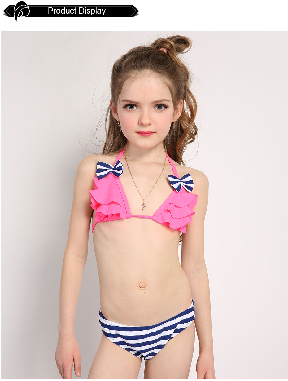 Andzhelika-2017-New-Bikinis-Set-Children39s-Swimsuit-Cute-Bow-Solid-striped-Bottom-Girls-Swimwear-Sw-32794127546