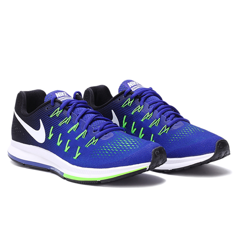 Authentic-New-Arrival-Official-Nike-Air-Zoom-Men39s-Breathable-Blue-Running-Shoes-Sneakers-32810030688