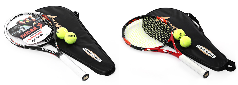 REGAILTennisCompetitiveOvalTrainingRacketUnisexTennisRacketRegularGradewithbagforTennisInitialTraining-32695479788